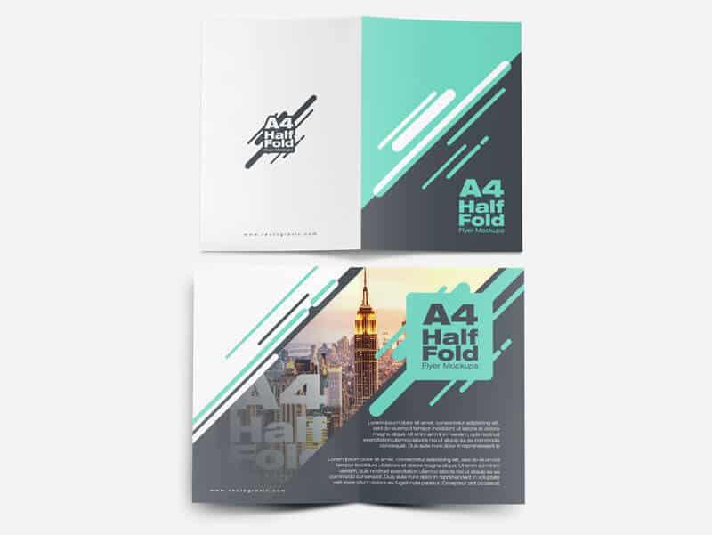 01 A4 Half Fold Flyer Mockups