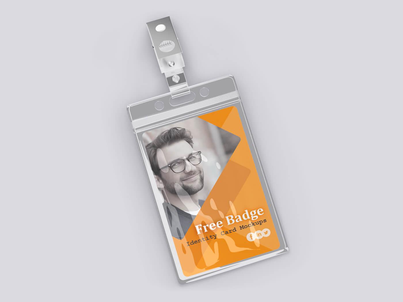 Badge Identity Card Mockup 03