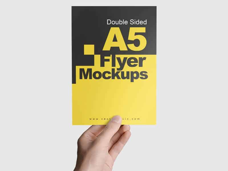 01 Double Sided A5 Flyer Mockups