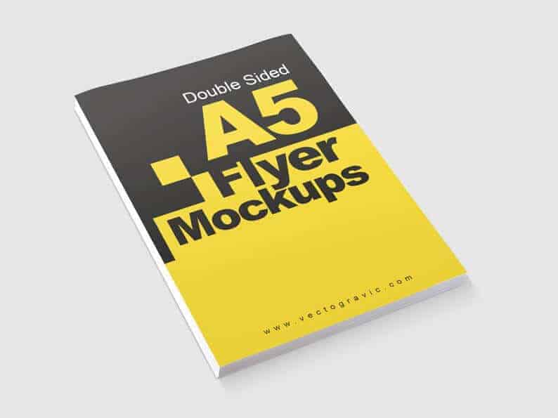03 Double Sided A5 Flyer Mockups