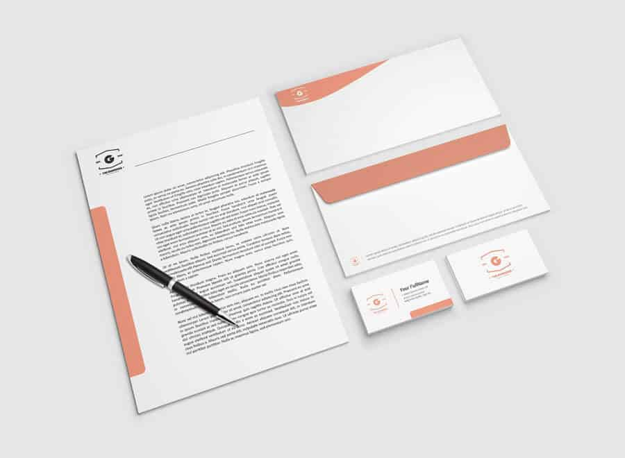 free to download letterhead mockup on vectogravic design