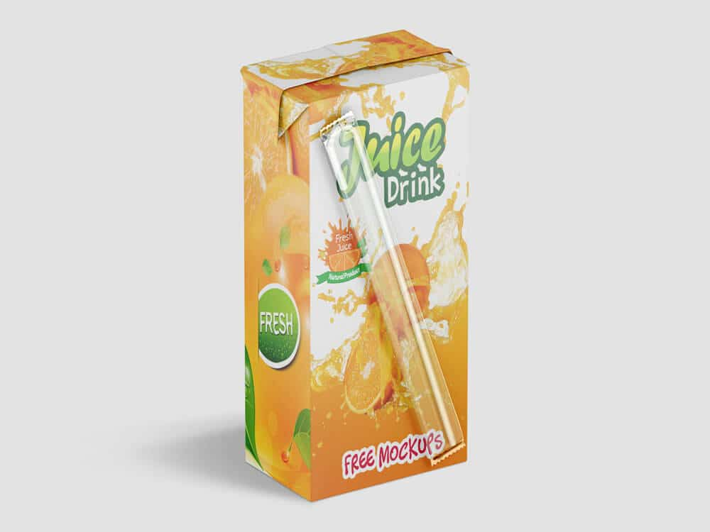 01 Juice Drink Packaging Mockups