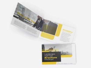 03 Landscape Half Fold Brochure Mockups