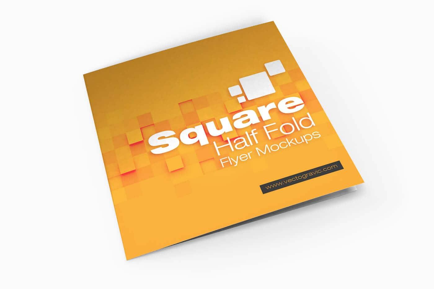 Square Half Fold Brochure Mockups 01 1