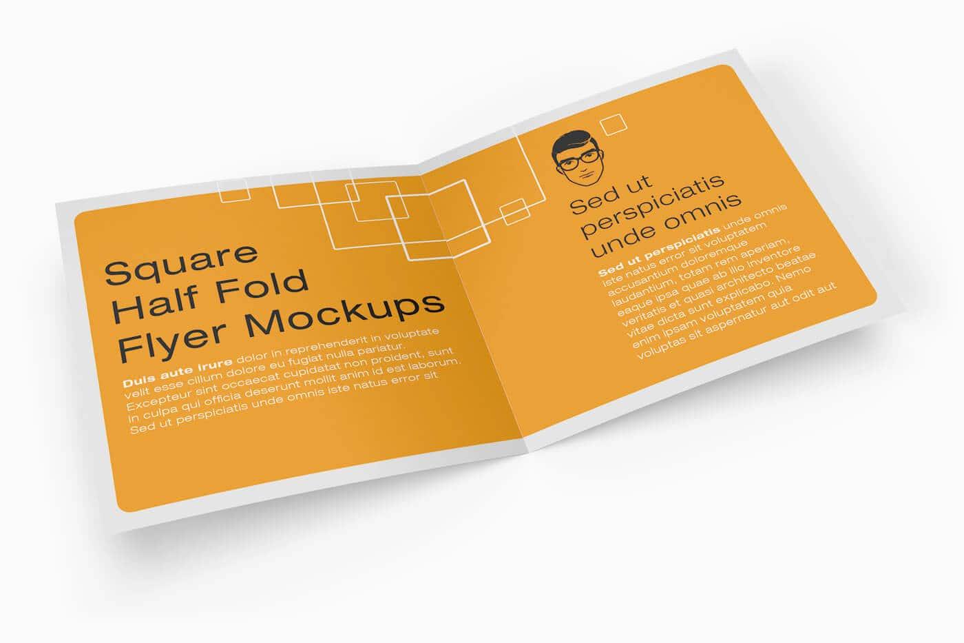 Square Half Fold Brochure Mockups 02 1