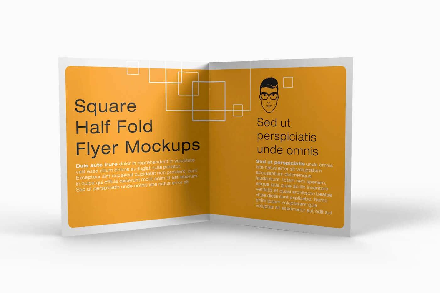 Square Half Fold Brochure Mockups 04 1