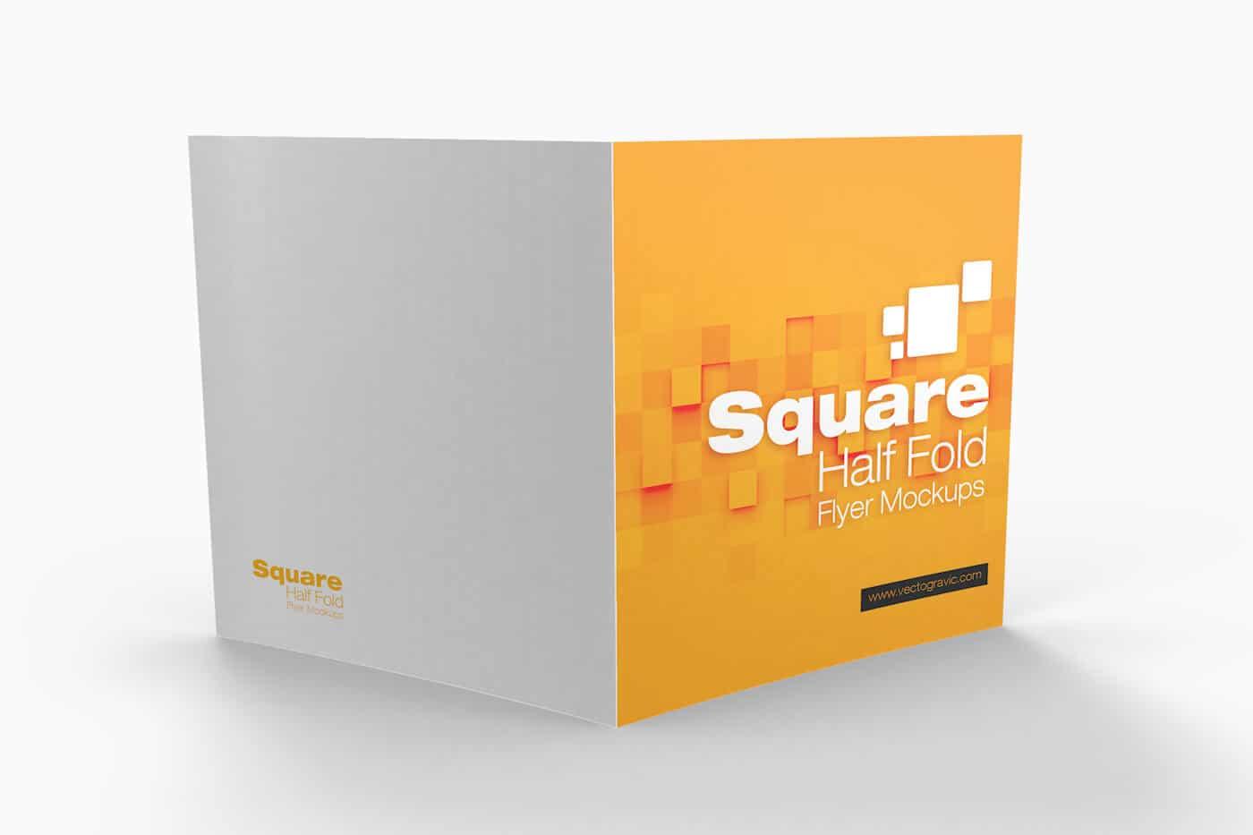 Square Half Fold Brochure Mockups 05 1