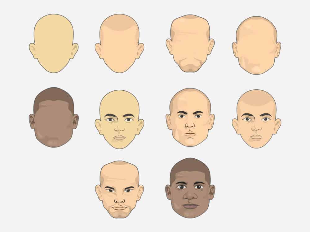 Customizable Vector Avatar Heads