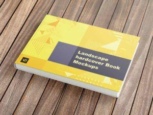 01 Landscape hardcover Book Mockup