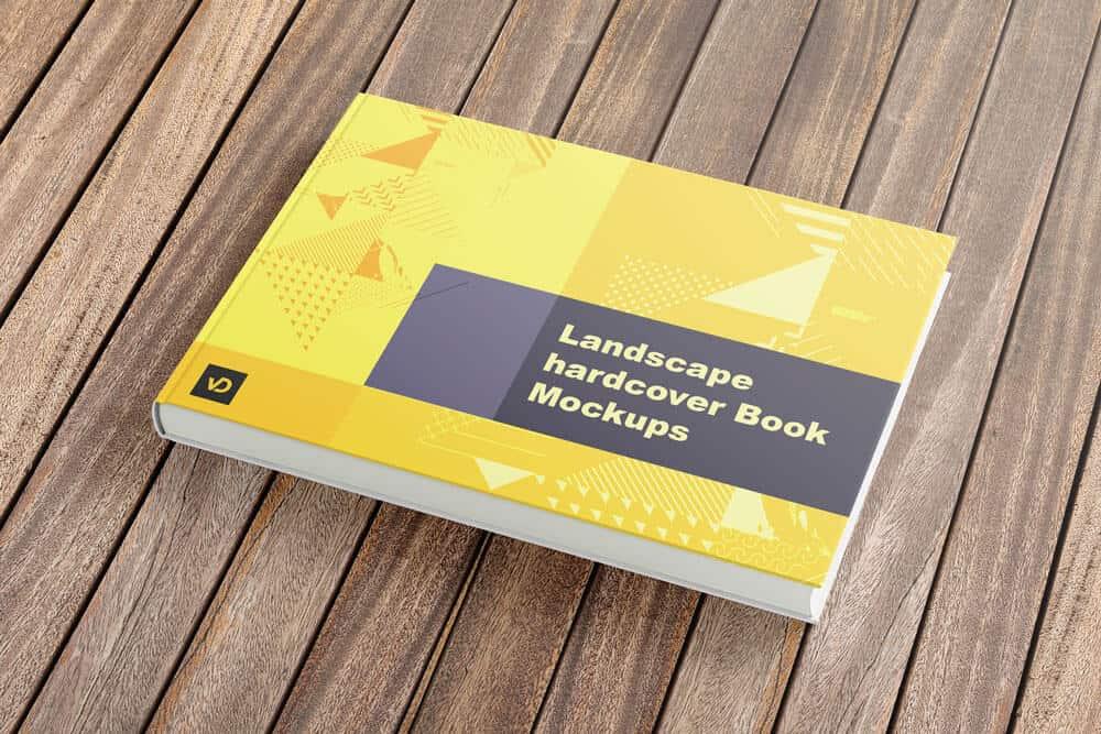 Landscape hardcover Book Mockup