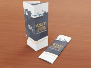 8.5 x 11 Double Gate Fold Brochure Mockup 01