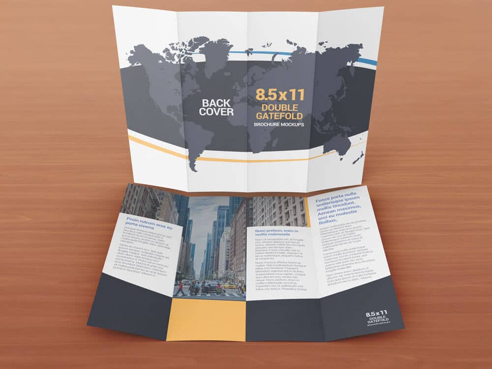 Double Gate Fold Brochure  BesikEightyCo