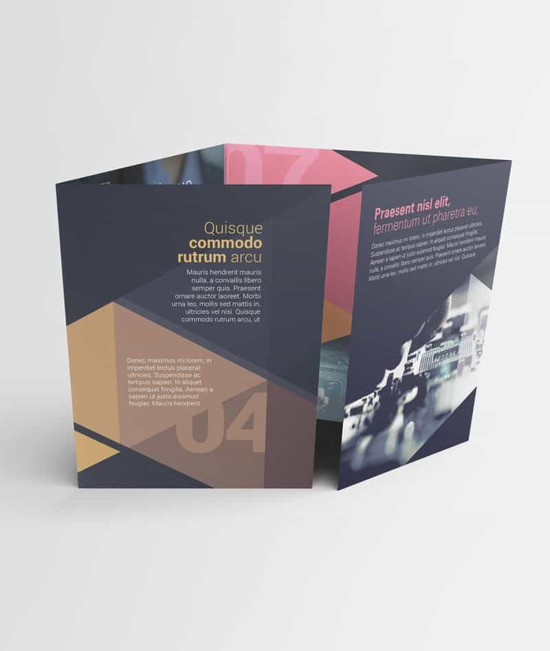 Large double gate fold brochure mockups on vectogravic for Double gate fold brochure template