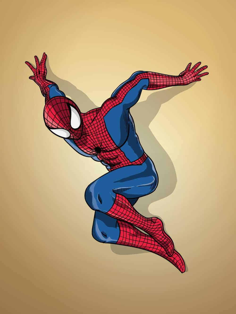 Spiderman-Cartoon-Illustration