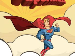 Superman Cartoon Illustration