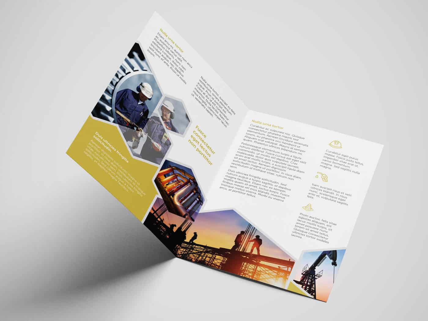 Half Fold Oil and Gas Brochure Template