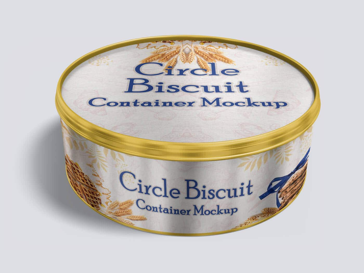 Circle Biscuit and Cookies Tin Container Mockup 01