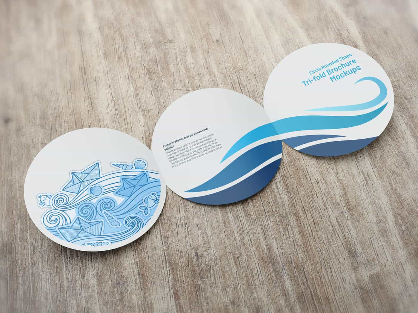 Circle Rounded Shape Brochure Mockups