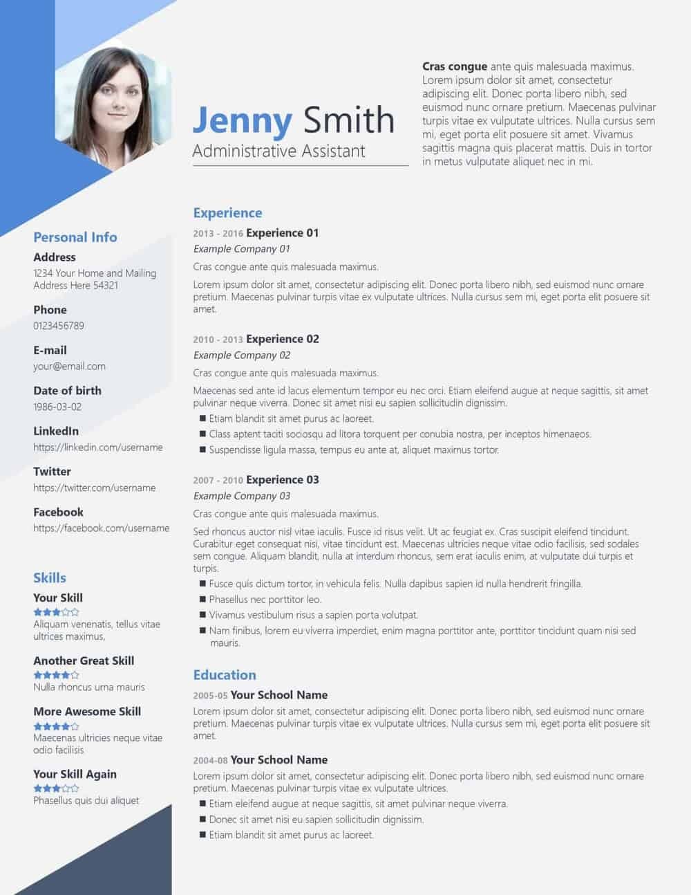 Free Psd Resume Templates On Vectogravic Design  Vectogravic Design