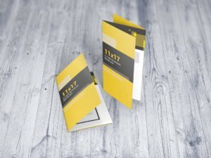11x17 Z-Fold Brochure Mockups