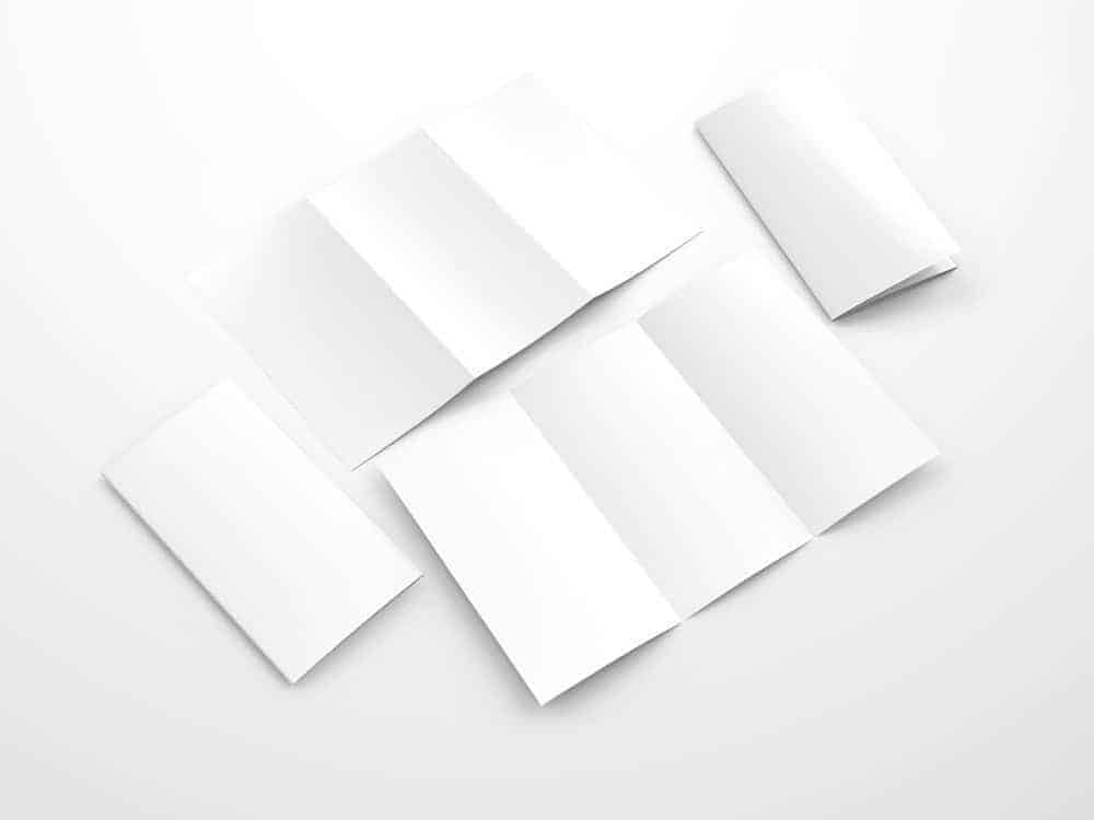 Trifold Brochure Mockups 11×17 size