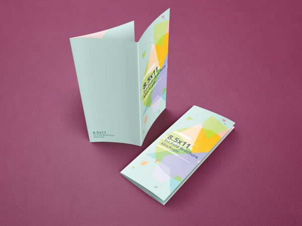 trifold brochure mockups 8 5 11 size on vectogravic design
