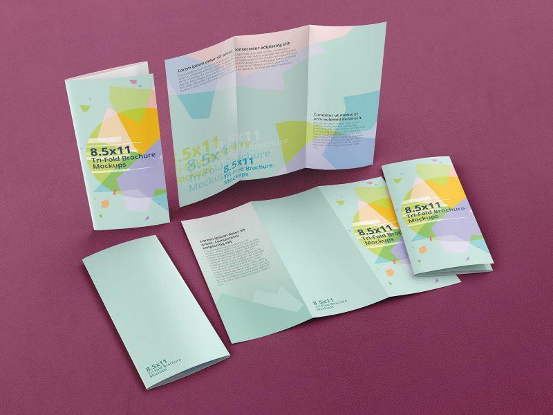 Trifold Brochure Mockups 8.5×11 size