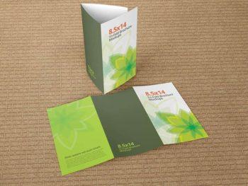 Trifold Brochure Mockups 8.5x14 size
