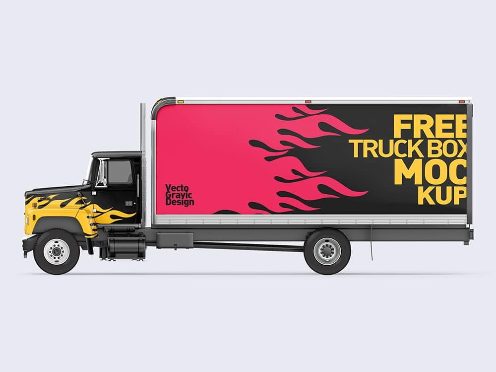 Ford Box Truck Free Mockups 02