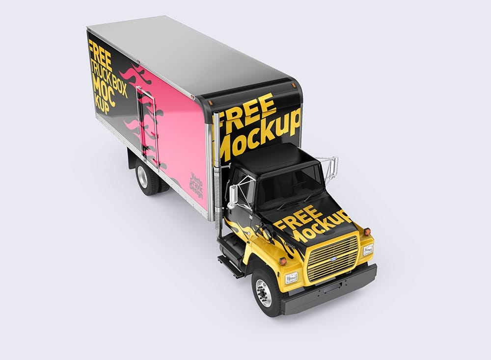 Ford Box Truck Free Mockups 04