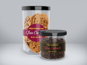 Snack and Food Glass Container Mockups
