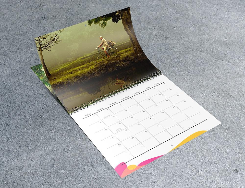 8.5×11 Wall Calendar Mockups