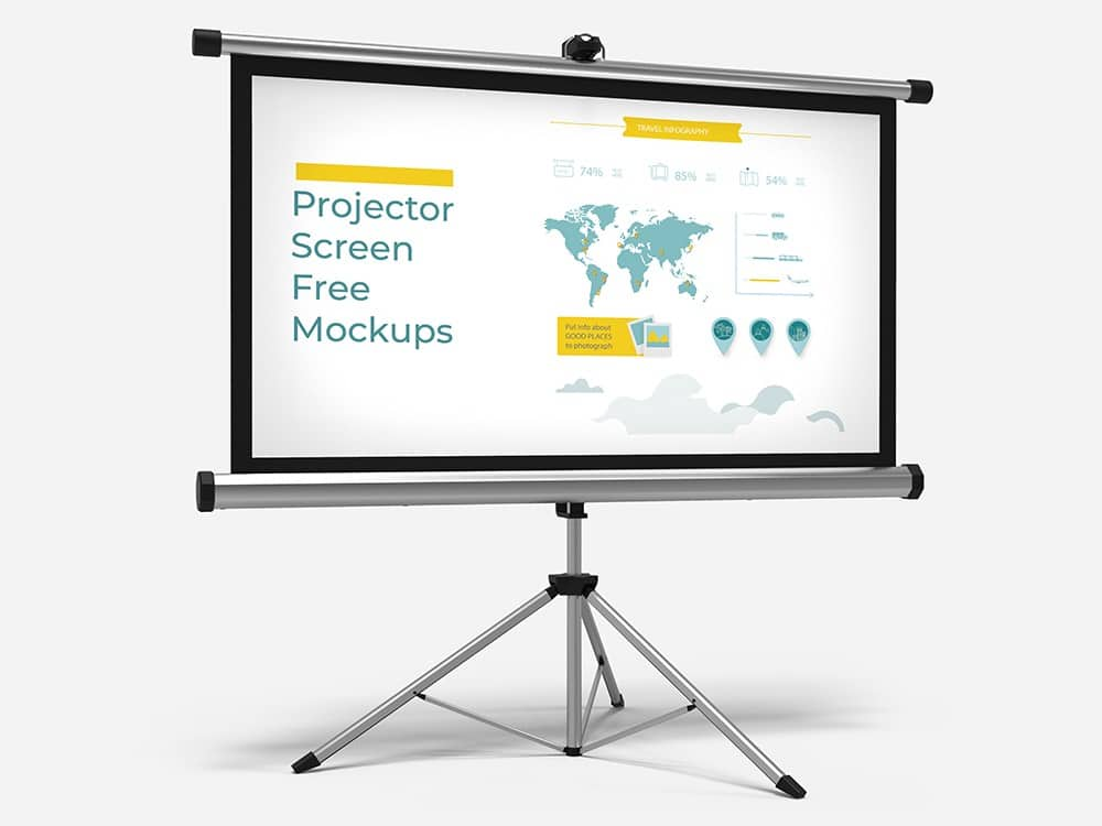 Free Download Projector Screen Mockups 02