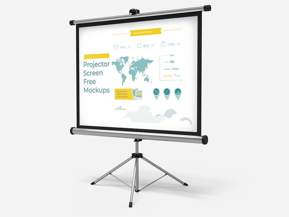Free Download Projector Screen Mockups 03