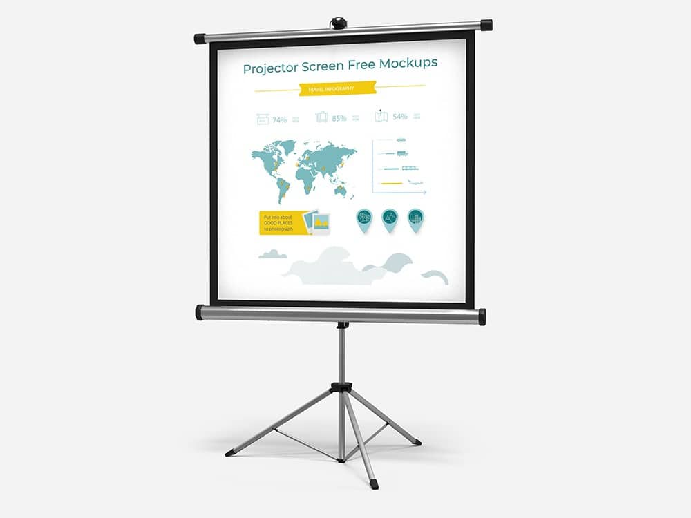 Free Download Projector Screen Mockups 04