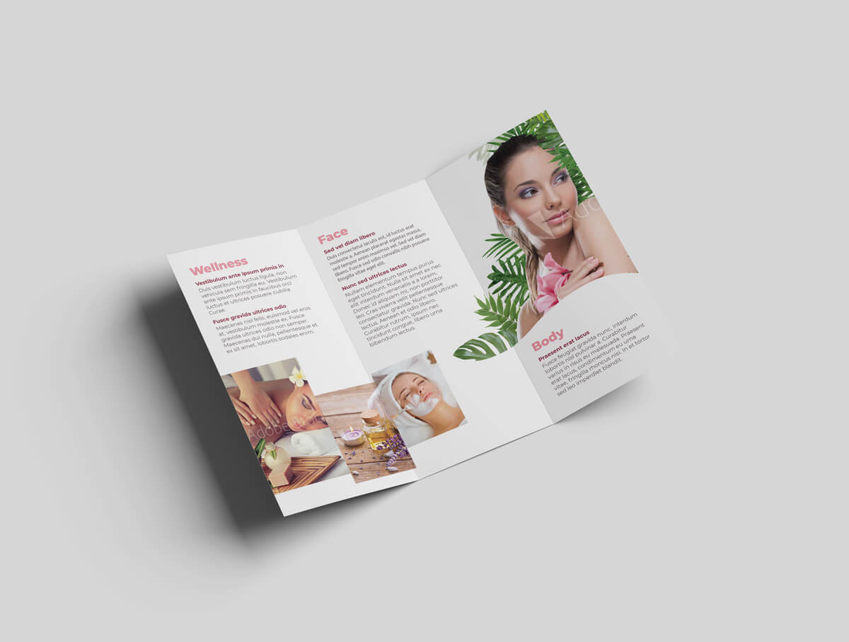 Cosmetic and Beauty Tri Fold Template 03