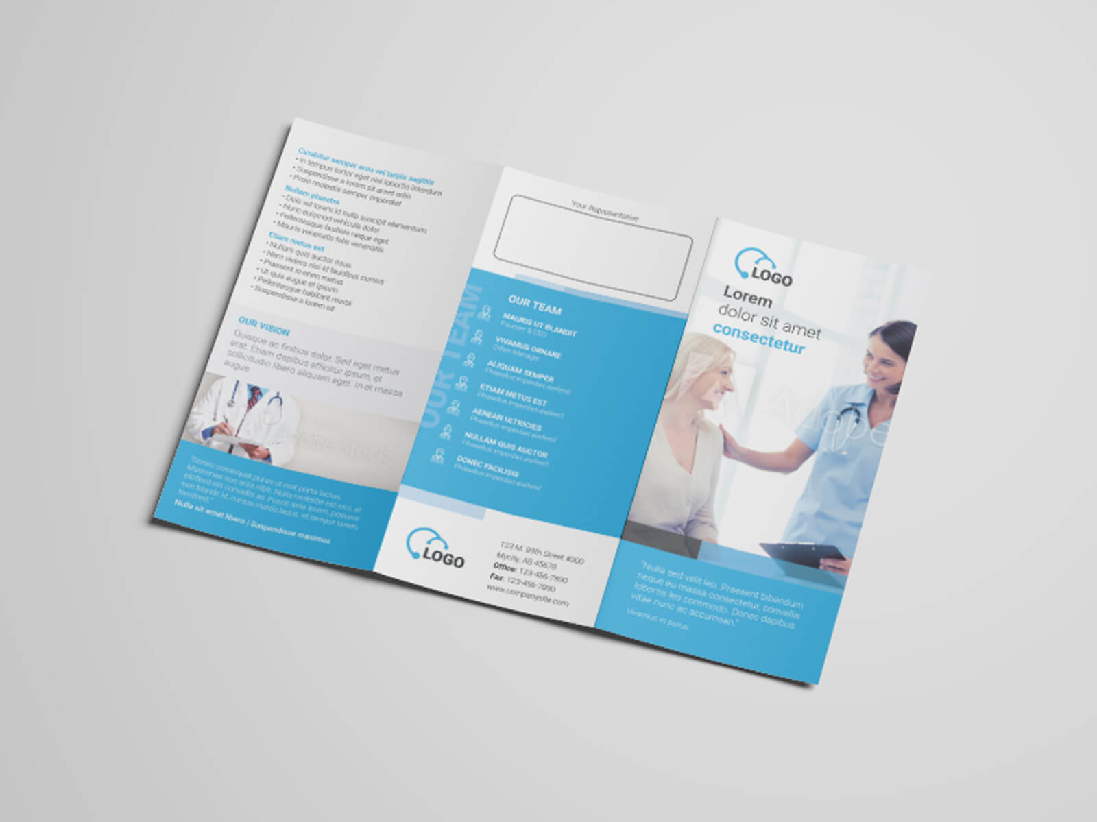 Health Medicare Tri fold Flyer Template 04