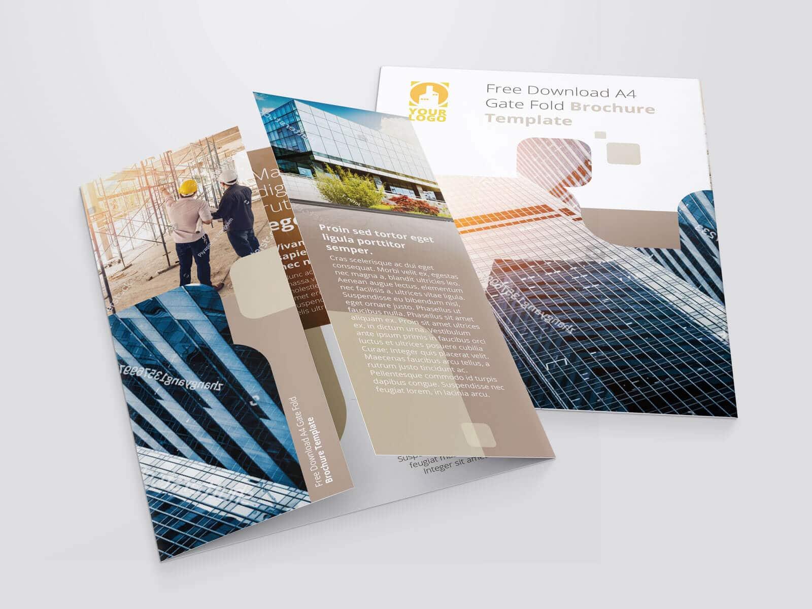 17 x 11 Gate Fold Brochure Mockup 01