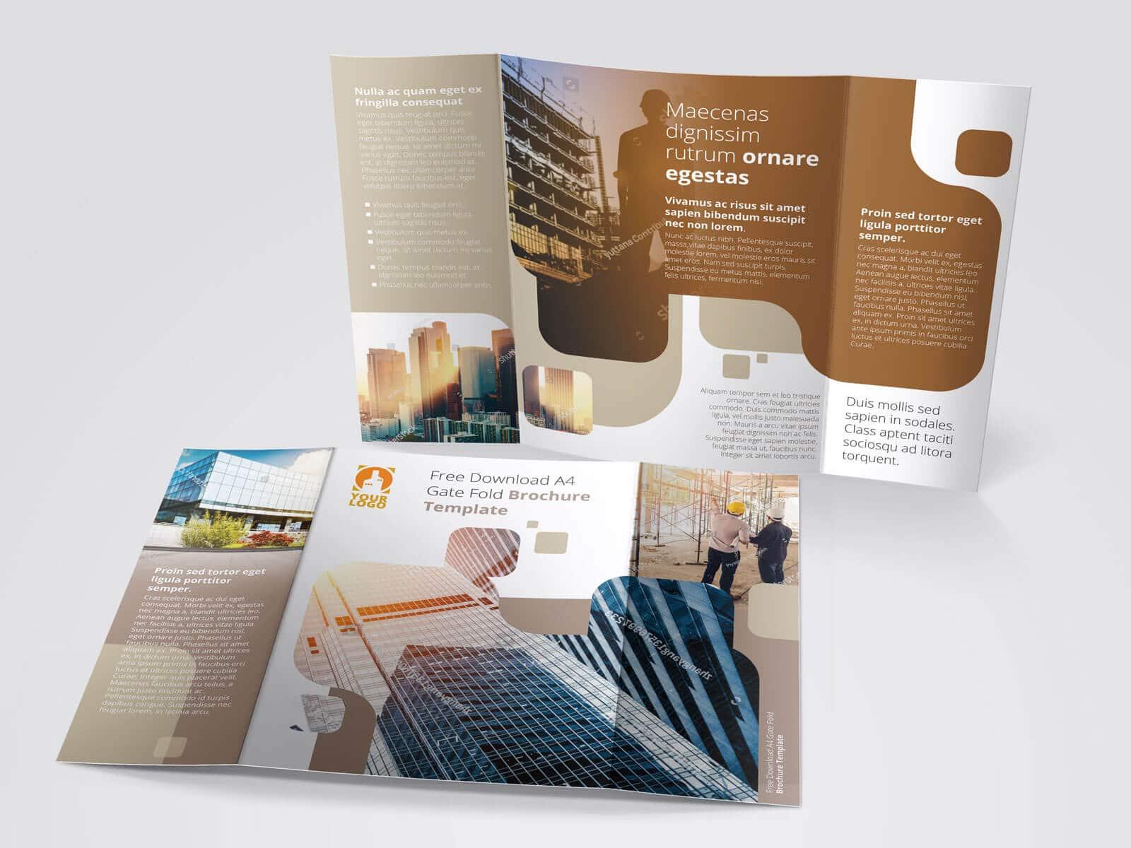 17 x 11 Gate Fold Brochure Mockup 03