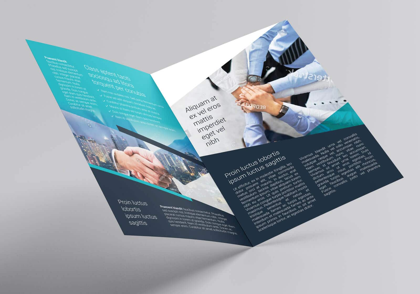 Free Multipurpose Bi Fold Flyer Template 03