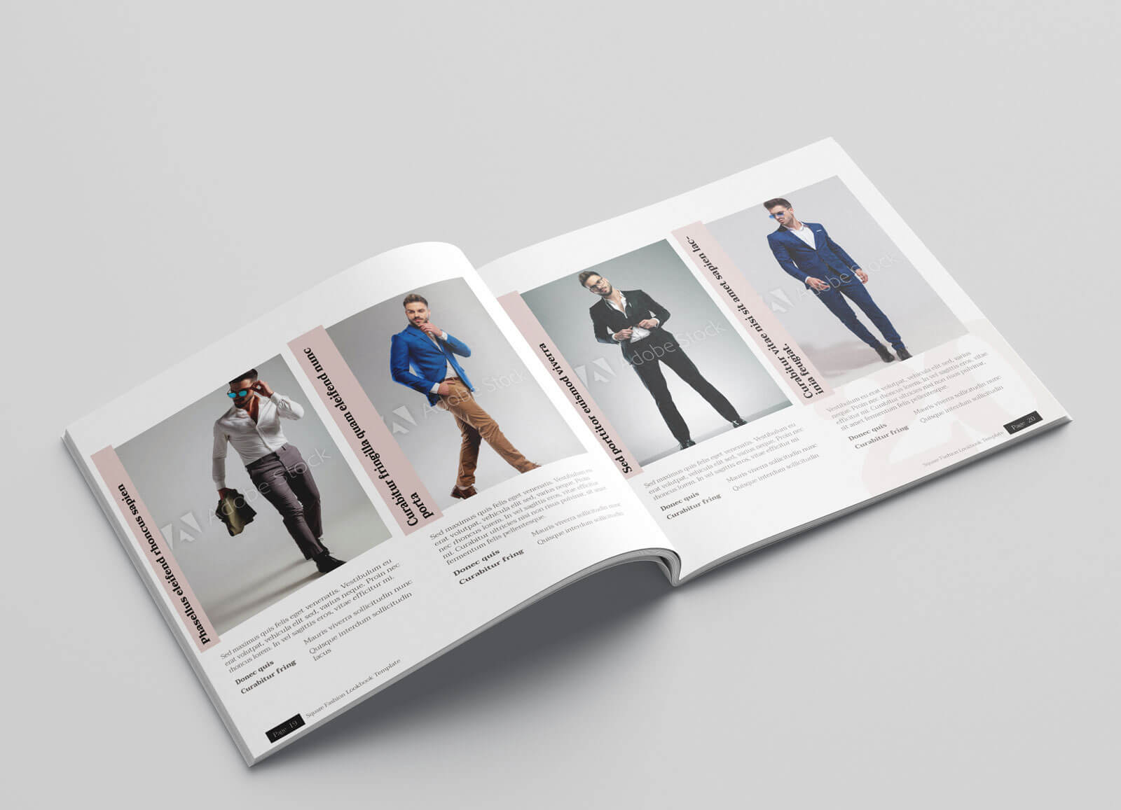 KLAMBEE – Square Fashion Lookbook Template