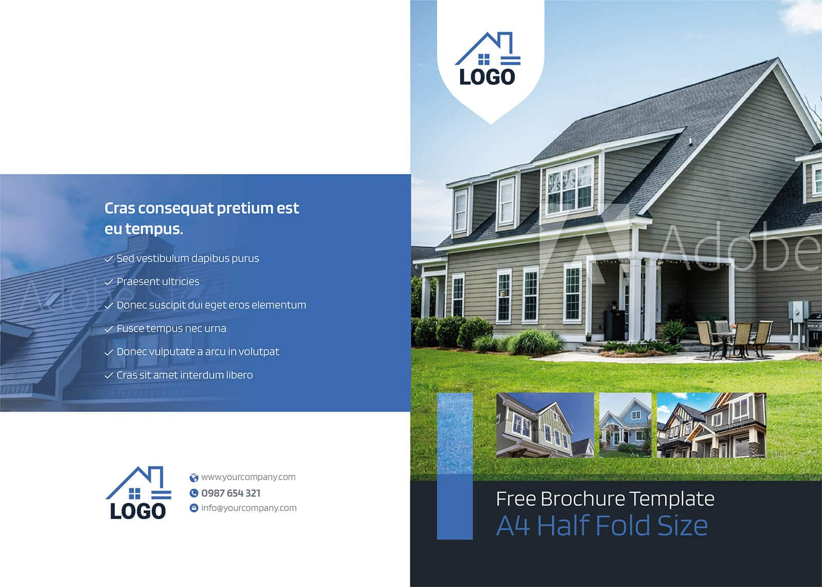 Residential Real Estate Half Fold Brochure Template 01
