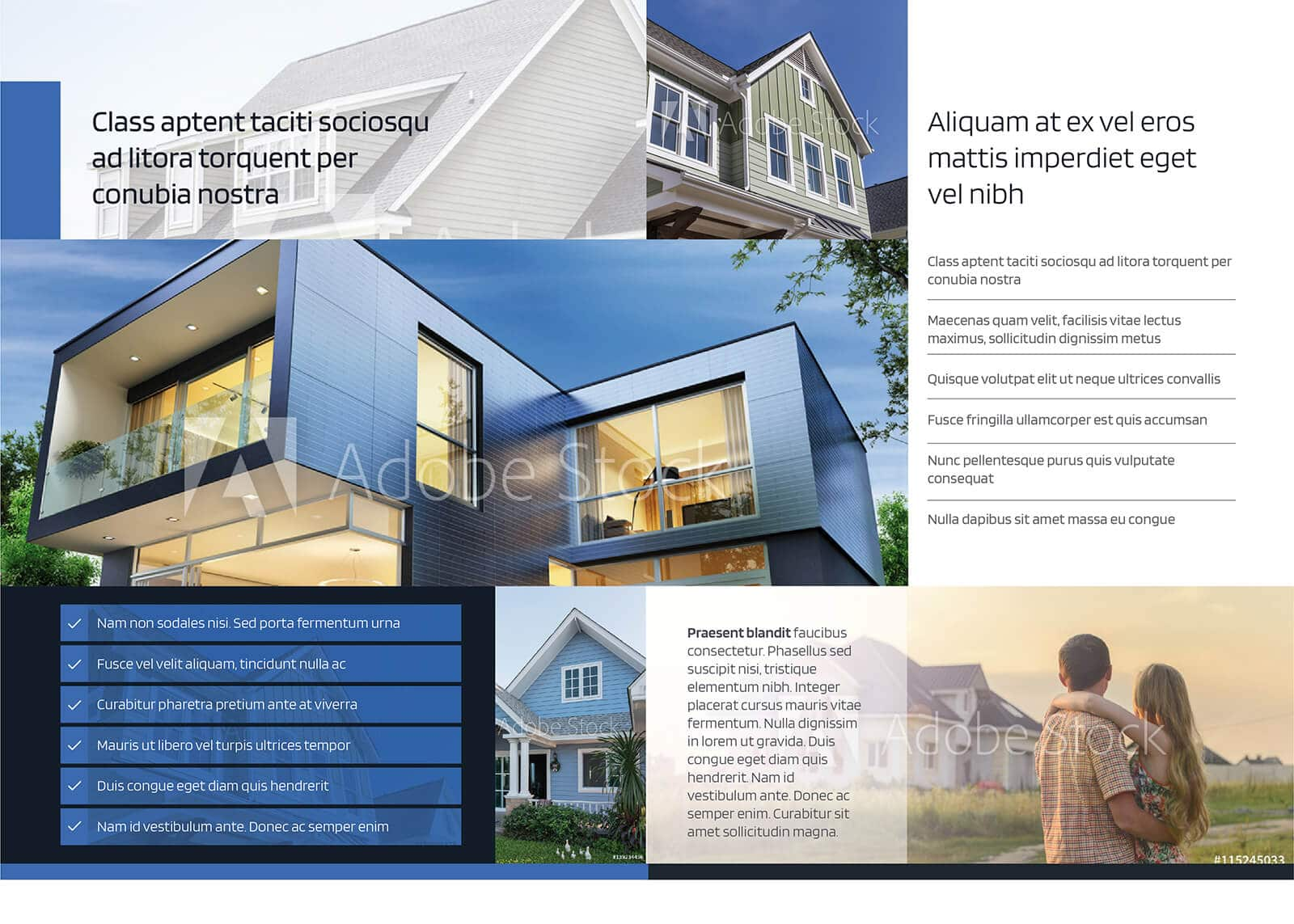 Residential Real Estate Half Fold Brochure Template 02