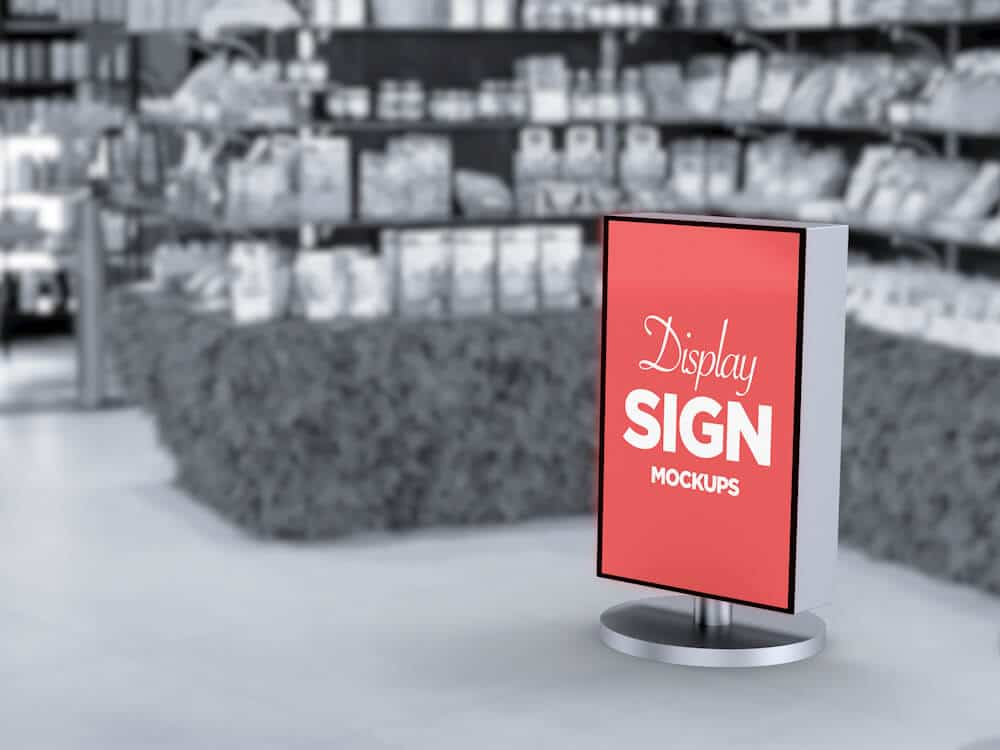 Stand Display Sign Mockup 02
