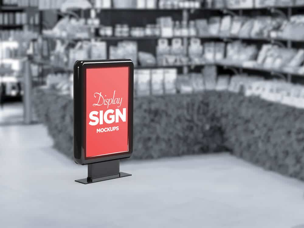 Stand Display Sign Mockup 05