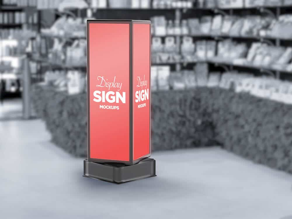 Stand Display Sign Mockup 06