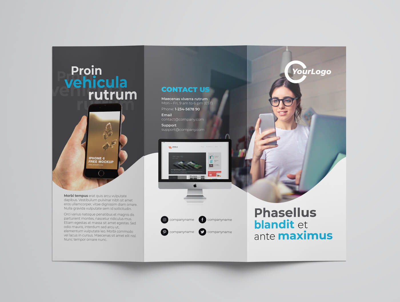 Multipurpose Trifold Flyer Template 04