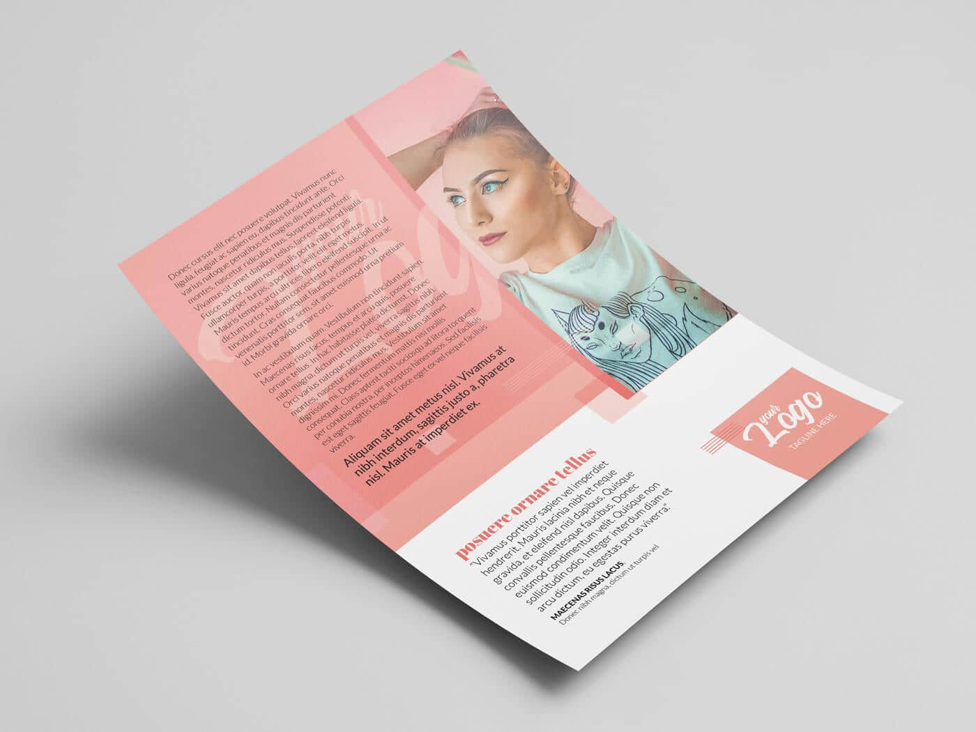 A4 Double Sided Flyer Template 02