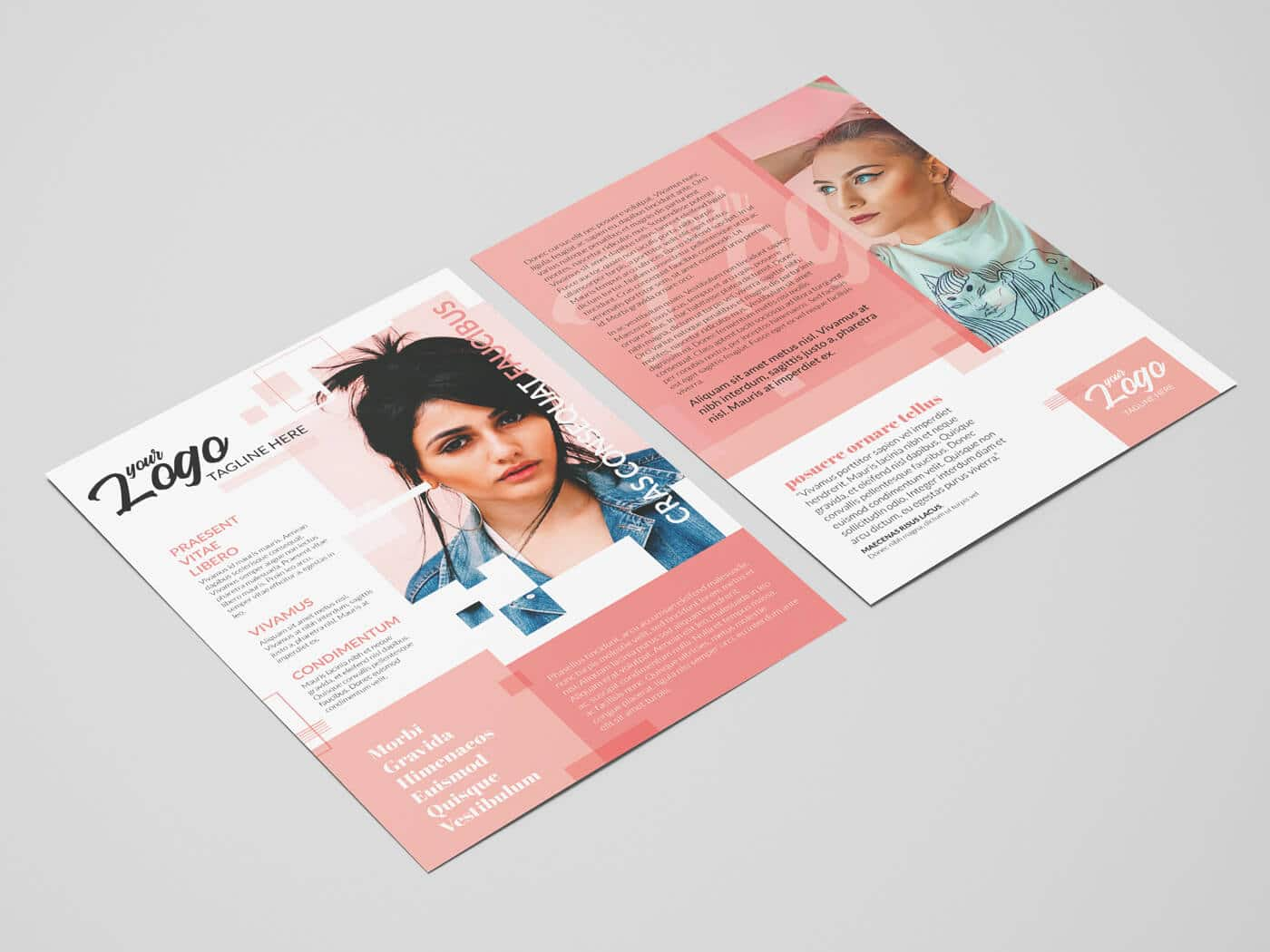 A4 Double Sided Flyer Template 03