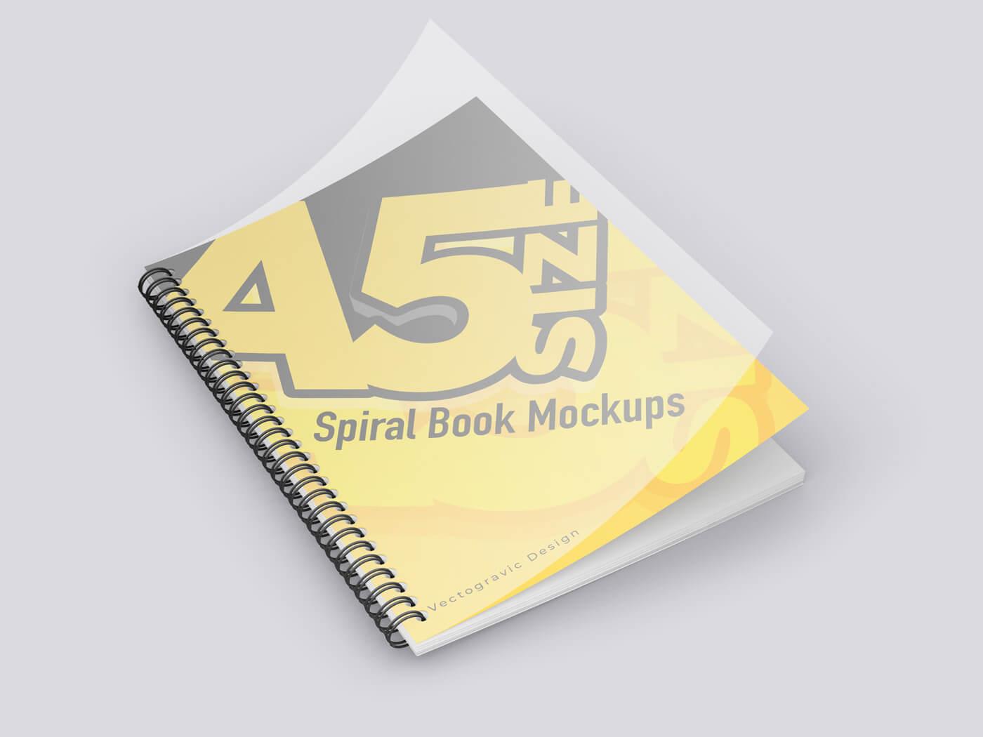A5 Spiral Book Mockup 01